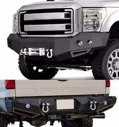 Smittybilt Front And Rear Bumper Set W/ Led Lights For 08-10 Ford F-350 Superduty