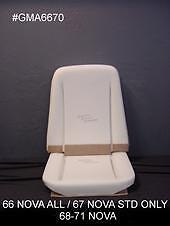 19661967196819691970and1971 Chevy Nova Bucket Seat Foam Aci Made In The Usa