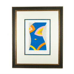 Untitled Blue Torso By Emilio Pucci Signed Limited Edition 10/100 Lithograph