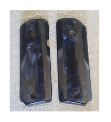 Ajax Grips For 1911 Compact Officers Ccw - Ambi Cut Gen3 Pearlite Black - New