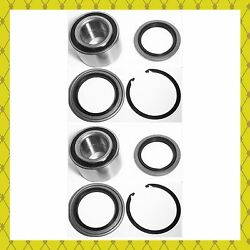 Front Wheel Hub Bearing And Seal W/snap Ring For 2000-2006 Toyota Tundra Pair