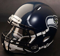 Seattle Seahawks Nfl Authentic Gameday Football Helmet W/ S2bd Facemask
