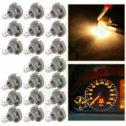 20x 10mm Warm White T4 Neo Wedge AC Climate Heater Control Dash Base Light Bulb