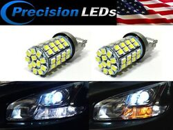 3157 3457 3057 4157 6060-SMD Switchback LED Turn Signal Light Bulbs whiteamber