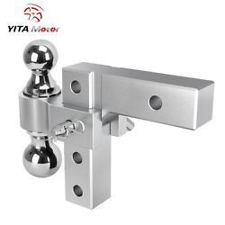 Yitamotor 2and039and039 Receiver 6and039and039 Adjustable Towingtrailer Hitch 2 Ball 2and039and039and 2-5/16and039and039