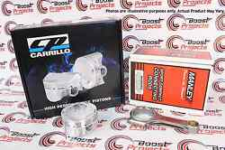 Cp Pistons Manley Rods Combo Set For Mitsubishi 4b11/evo X 86.50mm Bore 9.0 Cr