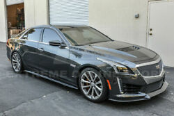For 16-up Cadillac Cts-v Carbon Front Bumper Lip Splitter Package Style Kit