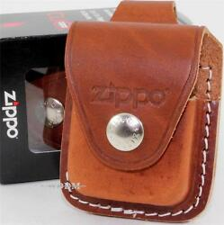 Zippo Brown Leather Lighter Pouch/case/holder Belt Loop Sheath Made In U.s.a.