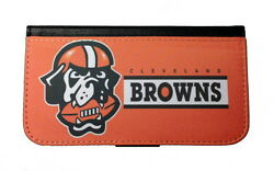 CLEVELAND BROWNS SAMSUNG GALAXY amp; iPHONE CELL PHONE CASE LEATHER COVER WALLET $19.99