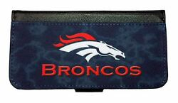 DENVER BRONCOS SAMSUNG GALAXY amp; iPHONE CELL PHONE CASE LEATHER COVER WALLET $19.99