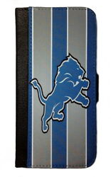 DETROIT LIONS SAMSUNG GALAXY amp; iPHONE CELL PHONE CASE LEATHER COVER WALLET $19.99