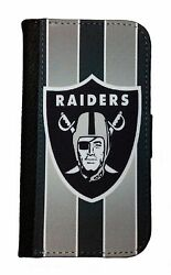 OAKLAND RAIDERS SAMSUNG GALAXY amp; iPHONE CELL PHONE CASE LEATHER COVER WALLET $19.99