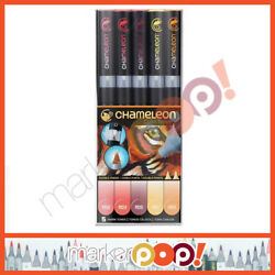 Chameleon Alcohol Color Tones - 5 Pen Warm Tones Set CT0511