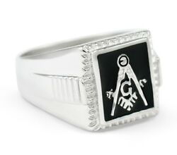 Masonic Sterling Silver Square Ring   Freemasonry   Father's Day Gifts   Rings