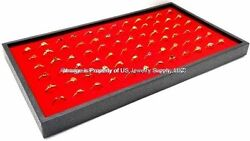 1 Red 72 Ring Organizer Display Storage Stackable Tray