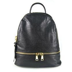 New Pu Leather Shoulder Bag Women College Casual Simple Backpack Schoolbag