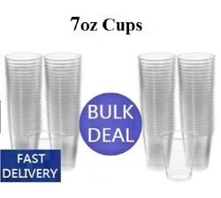 Clear Plastic Disposable Water Cups Drinking Glass Vending Machine Style 7oz