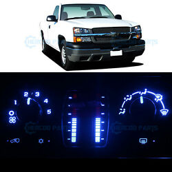 Blue Climate Heater AC Control Bulb LED Lights for Silverado 1500 No LCD 03-06