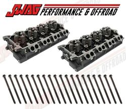 03-10 Ford 6.0l Powerstroke Cylinder Heads And Factory Head Bolts Vt365 18mm 20mm