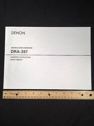 Denon Dra-397 Stereo Receiver Original Owners Manual 24 English Pages Dra397 A16