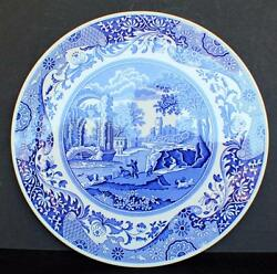 Vintage Spode Blue Room Collection Series Blue Italian 11 1/2 Cake Plate C1816