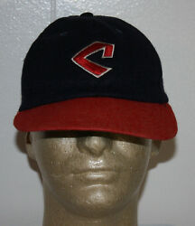 Vintage 1973 - 1977 Cleveland Indian Stretch Fitted Hat Cap L