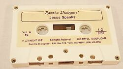 Ramtha JZ Knight Channels Jesus ULTRA RARE RSE 1981 Cassette Tape Out Of Print