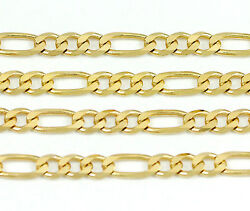 14k Yellow Gold Figaro Chain Necklace 24new9.35g2476e