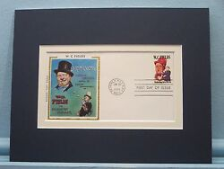 Movie Star And Comedian W.c. Fields And First Day Cover Of His Own Stamp