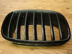Bmw E71 X6 Genuine Front Black Hood Kidney Grille Pairgrilles 2007-up New Oe
