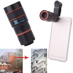 8andtimeszoom Telescope Magnifier Phone Camera Lens Holser For Camera Mobile Cell Phone