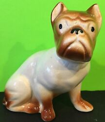 Bulldog Pug Figurine Ceramic Vintage Collectible Gift