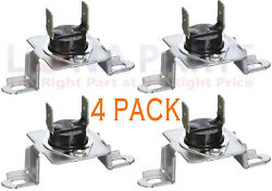 4 Pack 6931el3003d Dryer Thermostat Thermal Fuse For Lg New Ps3530485 Ap444097