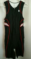 Ironman Biking Cycling Bib 1 Pc Padded Tri Suit Men's M Short John USA NWT $99.00