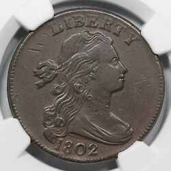 1802 S-233 R-2+ Ngc Xf 40 Draped Bust Large Cent Coin 1c