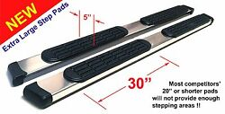08 09 10 11 12 13 Jeep Liberty 5 Chrome Pads Running Side Step Boards Nerf Bars