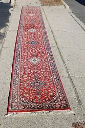 C1940's Antique Saruk Runner Rug 2.6x21.10 Highly Detailed_rare Size
