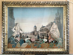 18th Century French Diorama with Decoupage Decoration College of St Mary Oxford