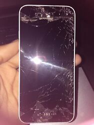 Apple Iphone 5c - 16gb - White Verizon - Fully Functional But Cracked Screen