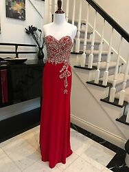 Long Slit Prom Wedding Bridesmaid Dress In Stock Size 6-14 Brand New