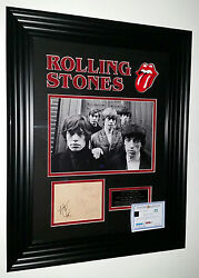 Rare Rolling Stones Signed Autograph Photo Picture Display Inc Mick Jagger