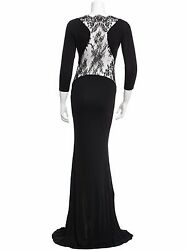 Gorgeous Sold Out New 3483 Roberto Cavalli Lace Paneled Maxi Dress