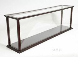 Display Case Wood 45 Table Top Cabinet For Ocean Liner Cruise Ship Models