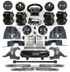 Chevy C10 71-72 Front And Rear Lowering Kit W/ Air Bag Ride Deluxe Bolt On Kit