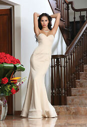 MAID OF HONOR STRAPLESS GOWN SPECIAL OCCASION PROM FORMAL EVENING DESIGNER DRESS $109.99
