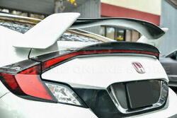 For 16-up Honda Civic Coupe Type R Style Carbon Fiber Rear Trunk Spoiler Wing