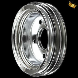 Crankshaft Pulley 3 Groove For Big Block Chevy 396 427 454 With Swp Chrome