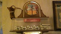 Budweiser Clydesdale Clock And Mirror