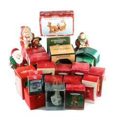 Lot Of 14 Hallmark Ornaments And Other Christmas Memorabilia Great Starter Kit