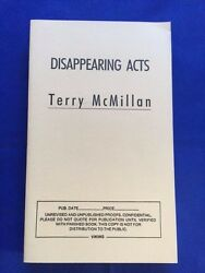 Disappearing Acts - Uncorrected Proof Signed By Terry Mcmillan